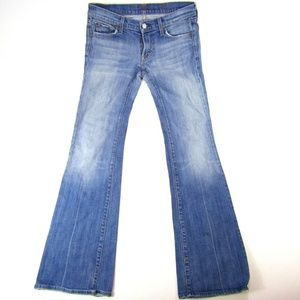 7 For All Mankind Bootcut Light Low Rise Womens